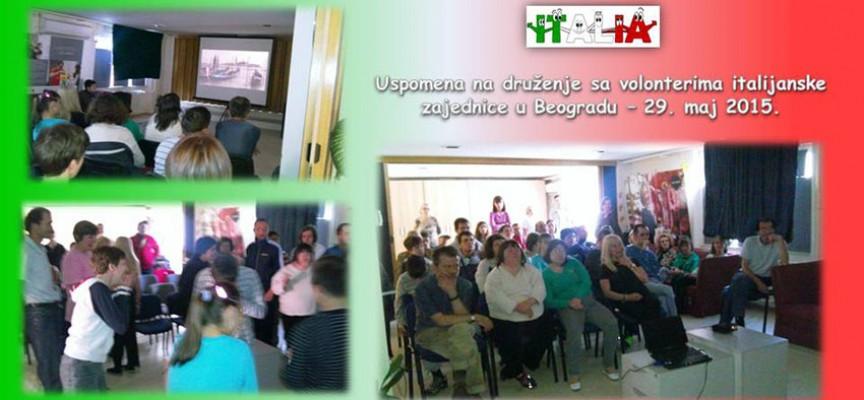 Volonteri italijanske zajednice u Kreativno edukativnom centru u Beogradu
