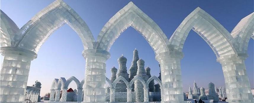 Ledeni grad — 750.000 kvadratnih metara sa skulpturama, dvorcima i kulama od snega i leda